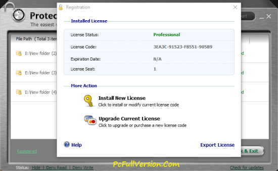 IObit Protected Folder 1.3 License Code Crack Full Download