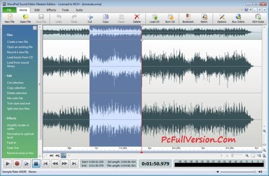 NCH WavePad Sound Editor Masters Edition 7.05 Serial Key Crack