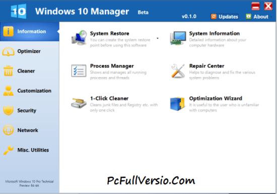 Windows 10 Manager Crack Download