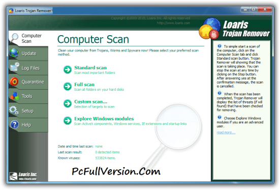 Loaris Trojan Remover Activation Code + Crack Full