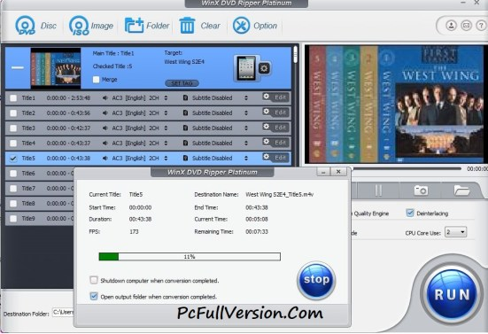 WinX DVD Ripper Platinum Full Keygen