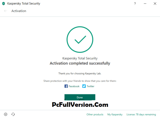 Kaspersky Total Security 2019 Lifetime Activation