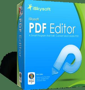 iSkysoft PDF Editor Registration Code With Crack Free Download