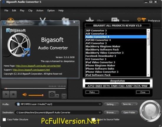 Bigasoft Audio Converter Crack Download