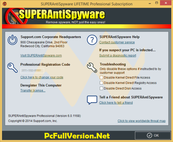 SUPERAntiSpyware License Key