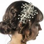 off-set bridal tiara