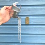 Small Galvanised Watering Can Sun Catcher