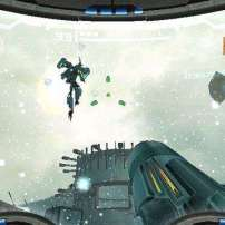 תמונת מצב שנלקחה מהמשחק הראשון בסדרה, Metroid Prime.