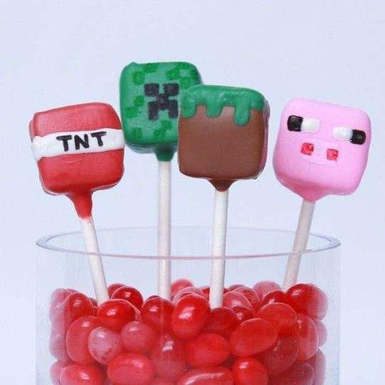 סוכריות פופ מיינקראפס