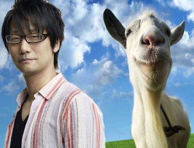 הידאו קוג'ימה נרשם ברשימת קרדיטים מיוחדת ב-Goat Simulator