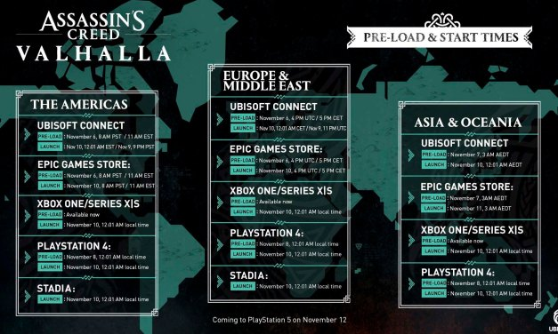 Assassins Creed Valhalla Pre-Load & Start Times