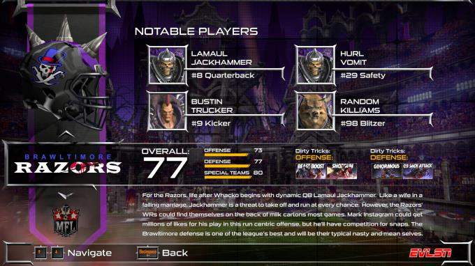 Mutant Football League Brawltimore Razors Torrent Download