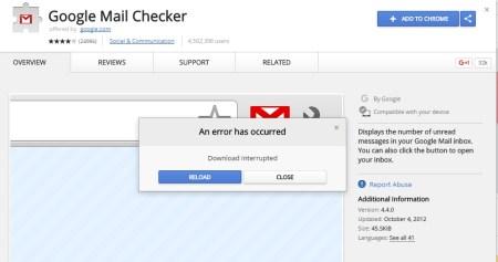 Fix NETWORK_FAILED on Chrome web store