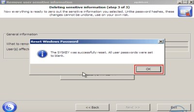 steps to remove startup password
