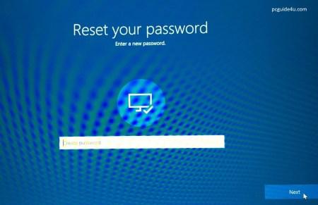 reset forgotten windows 10 login password