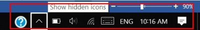 shortcut to switch between the notification area icons