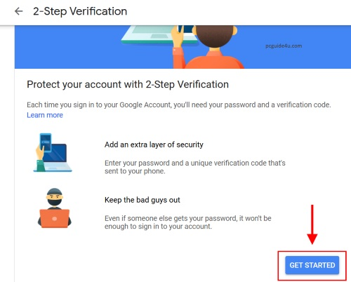 tun on gmail 2 step verification