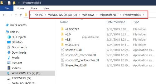 know which .net framework version is installed