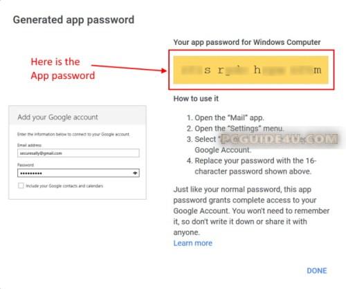 create gmail app password