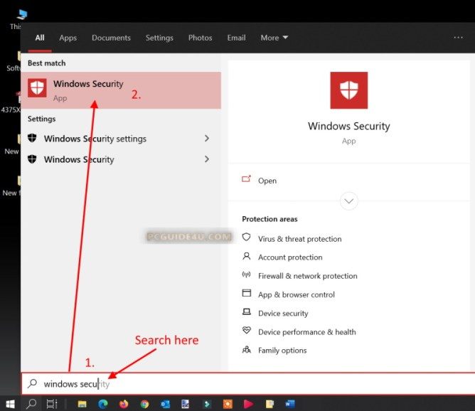 how to turn off windows security