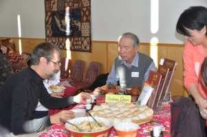 UBC's Philip Holden at Taiwanese table