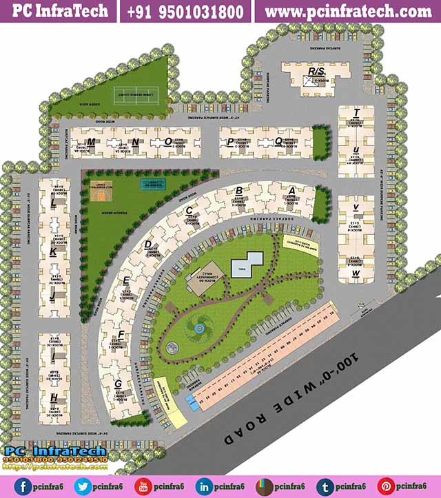 the address mullanpur site layout