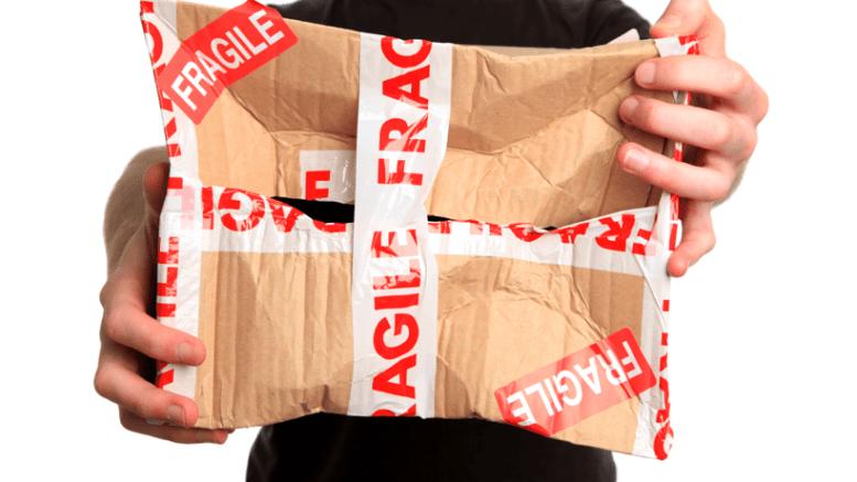 damaged delivery don't use Hermes