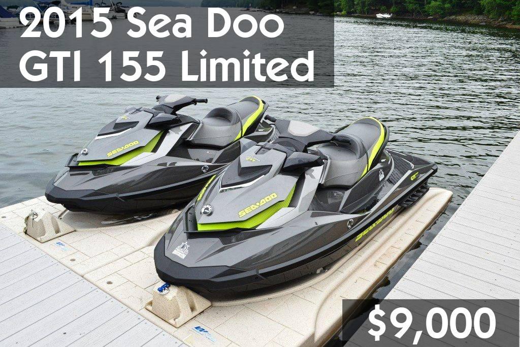 2015 Sea Doo GTI 155 Limited $9,000