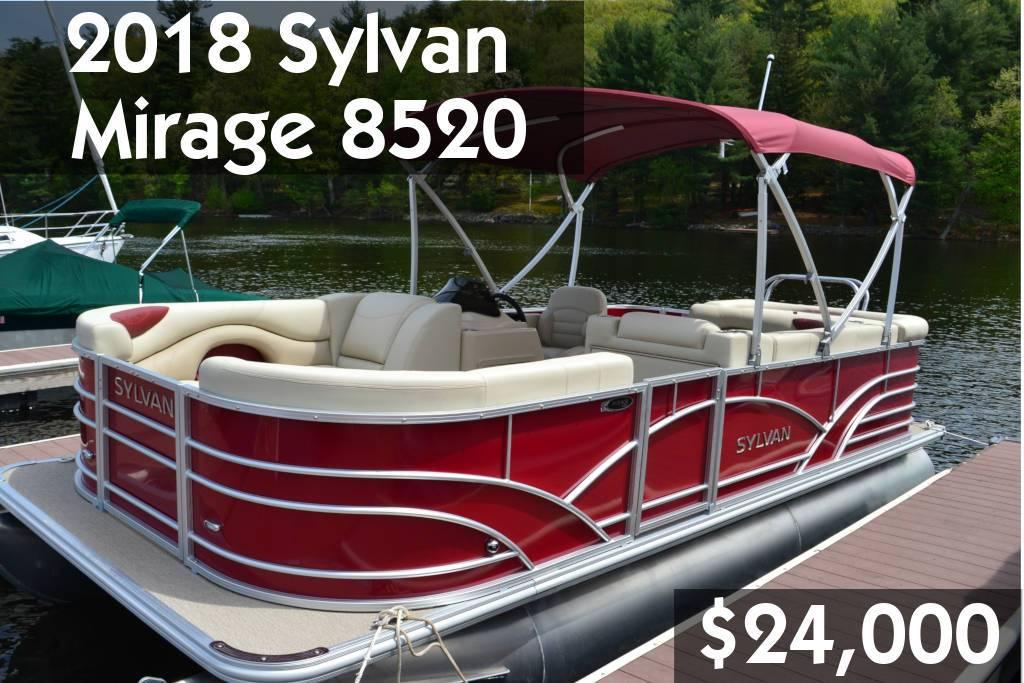 2018 Sylvan Mirage 8520 $24,000