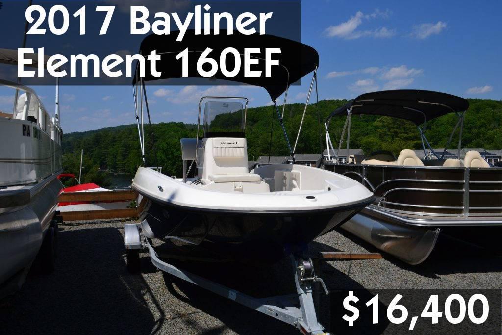 2017 Bayliner Element 160EF $16,400