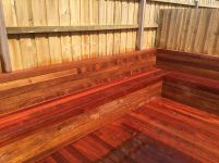Deck and planter boxes