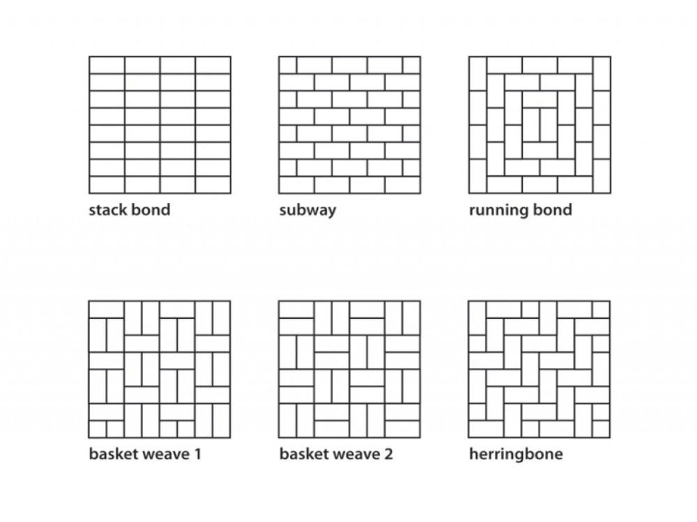 subway tile layout options Exterior flooring options subway tile layout patterns