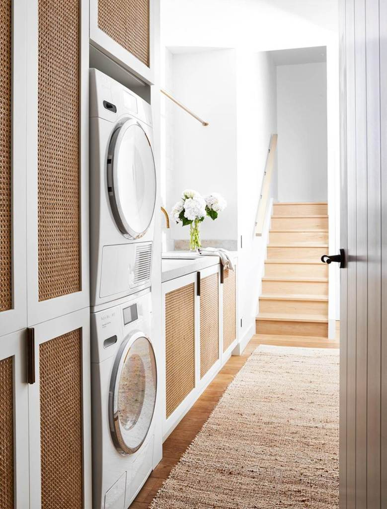 White, timber and cane laundry