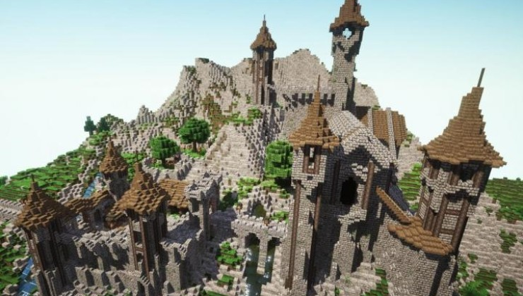 Epic Medieval Castle Map For Minecraft 1141 1132 PC Java Mods