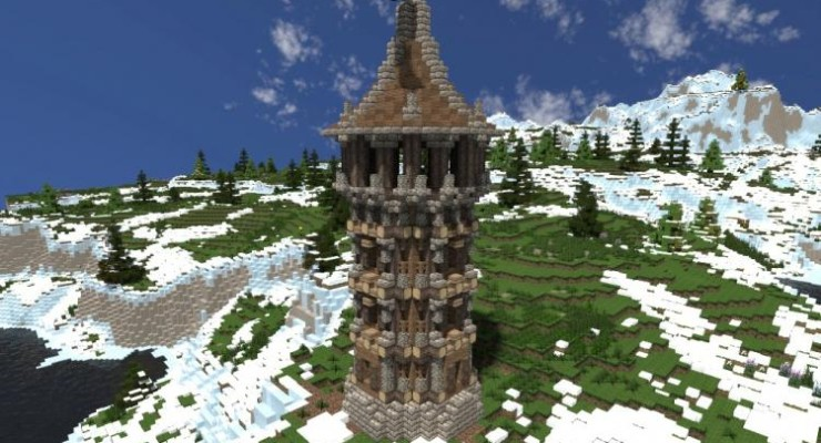 Medieval Watchtower Map For Minecraft 114 1132 PC