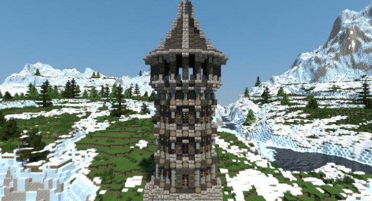 Medieval Watchtower Map For Minecraft 1141 1132 PC Java Mods