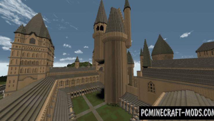 Hogwarts Castle Amp Grounds Map For Minecraft 1141 1132
