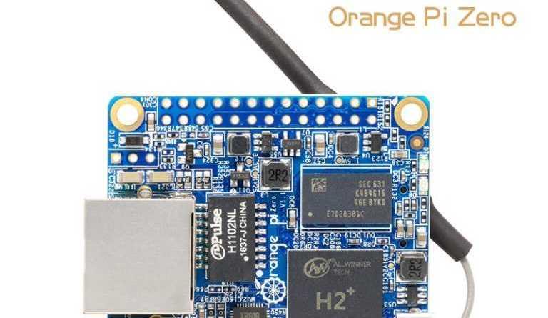 Orange Pi Zero H2 компьютер с 512mb и Armbian OS