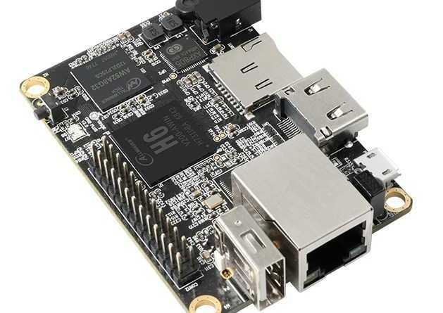 Orange Pi One Plus H6 - 64bit мини ПК с 1 Гб LPDDR3 и поддержкой android 7