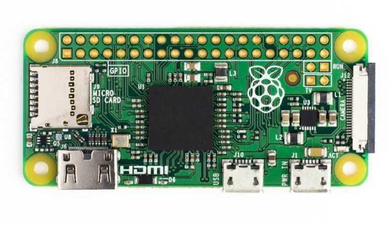 Raspberry Pi Zero - супермаленький и ультра-дешевый компьютер, новейшая версия (v1.3) с разъемом камеры.