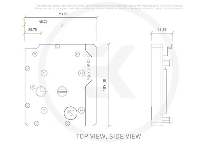 EK-Momentum ROG Strix Z390-I D-RGB - monoblok chłodzenia wodnego 2