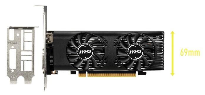 MSI GeForce GTX 1650 4GT LP