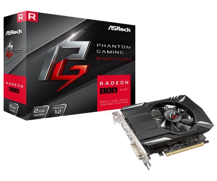 ASRock Phantom Gaming Radeon 550 2G