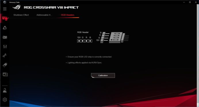 ASUS ROG Crosshair VIII Impact - Armoury Crate - Devices