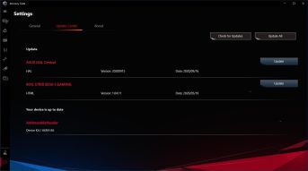 ASUS ROG Strix B550-I Gaming - Armoury Crate - Settings
