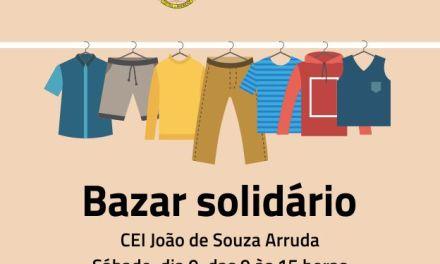 CEI João de Souza Arruda realiza bazar solidário nesse sábado