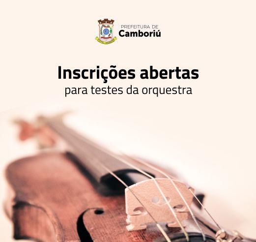 Fundação Cultural de Camboriú realizará seletivas para formação de orquestra