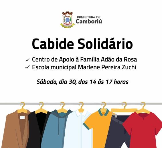 Sábado tem Cabide Solidário no Jardim Paraíso e bairro Conde Vila Verde