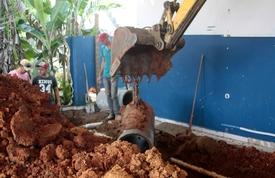 NEI Ariribá recebe obras de drenagem