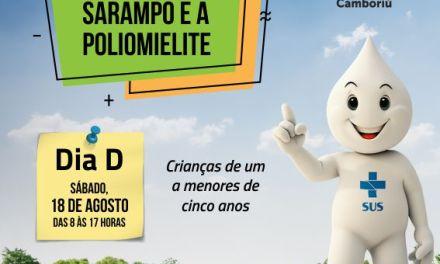 Campanha de vacinação contra poliomielite e sarampo inicia na segunda-feira